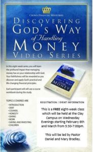 "FREE 8-week Financial Course - ""Discovering God's Way of Handling Money"" @ Faith Journey United Methodist Church 