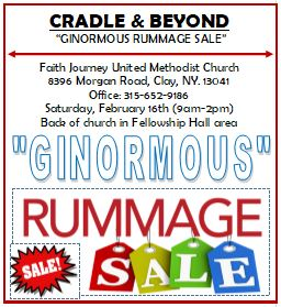 """Cradle & Beyond """"GINORMOUS"""" Rummage Sale @ Faith Journey United Methodist Church 